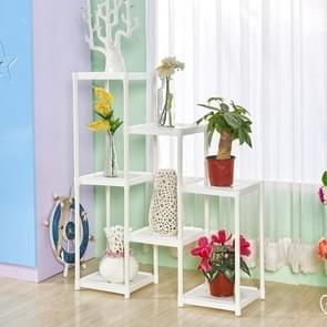 Flower stand floor flower stand multi-layer indoor balcony living room flower pot(white)