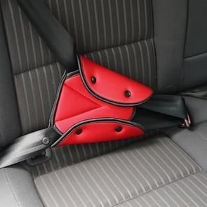 Autostoel veiligheidsgordel cover stevige verstelbare driehoek veiligheidsgordel kussen clips kinderbescherming (rood)