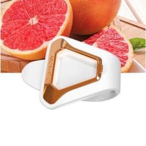 Opknoping Creatieve Aroma Clip Air Freshener Nature Parfum Geuraromatherapie voor zonneklep achterbank (Wit + Goud)