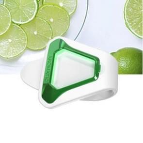 Opknoping creatieve aroma clip Air luchtverfrisser natuur parfum geur aromatherapie voor zonneklep achterbank (wit + groen)