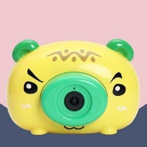 Kinderen Cartoon Camera Elektrische Bubble Maker Machine Speelgoed (Geel)