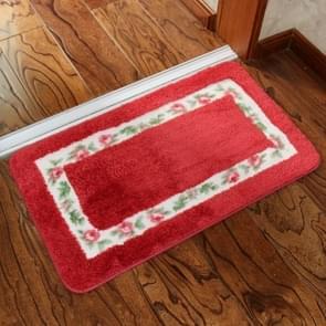 Non Slip Mat Rug Carpets  Living Room Bedroom Floor Mat Rug, Size: 40X60CM(Rectangle Red)