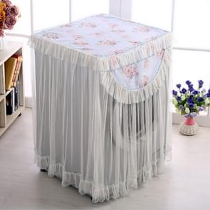 Cloth Lace Washing Machine Cover Sun Protection Dust Cover For Roller(Blue)