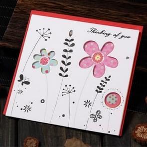 5 PCS Creative Cutout Mooie Verjaardag Wenskaart (Thinking Flower)