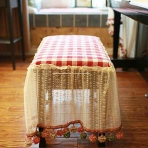 Double Seats Cover 80x38cm Lace Embroidered Cloth Piano Dust Cover