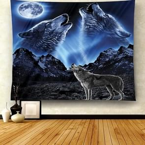 Multifunctional Fashion Simple Style Animal Hanging Carpet, Size:Smooth Surface L-200x150cm(Wolf Blue)