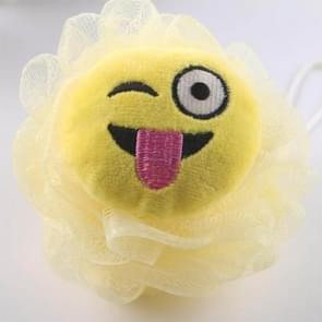 3 PCS Bath Flower Ball Super Soft Loofah Mesh Sponge(Yellow Tongue)