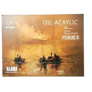 Professional Oil Painting Paper Book 20 Sheets Acrylic Oil Paint Creative Painting Canvas 16k 350x250mm
