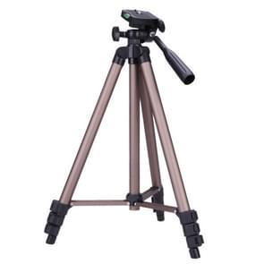 WT3130 protable camera statief staan met Rocker arm voor DSLR camera camcorder (bruin)