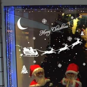 Simple Deer Santa Claus Shop Christmas Decoration Window Stickers Wall Stickers