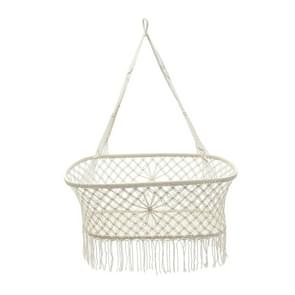 White Cotton Baby Garden Hanging Hammock Baby Cribs Cotton Woven Rope Swing Patio Chair Seat Bedding Baby Care 90*87*57cm