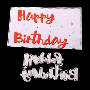Happy Birthday Knife Mold DIY Cutbook Album Greeting Card Making Stencil