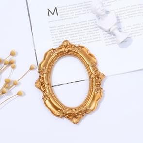 Vintage Gold Hars Mini Photo Frame Oorbellen Sieraden Decoratie Foto Rekwisieten (Ovaal)