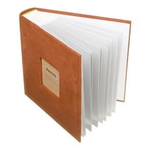N55078 7 inch 50 pagina's voor 200 PCS Foto's fluweel gezicht album invoegen type album opslag boek (oranje)