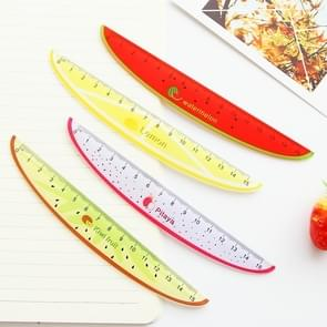 10 PCS 15cm Plastic Ruler Creative Fruit Ruler Kids Student Stationery Random Color