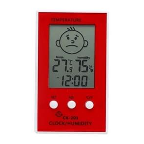 Indoor Outdoor Thermometer Precise Hygrometer Digital Clock Temperature Logger