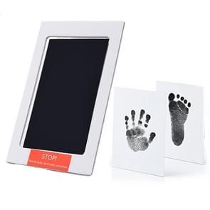 Niet-giftige baby handafdruk footprint Impressum souvenirs baby Clay Toy Gifts (zwart)