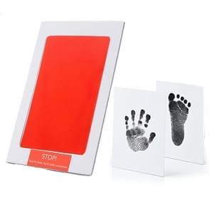 Niet-giftige baby handafdruk footprint Impressum souvenirs baby Clay Toy Gifts (rood)