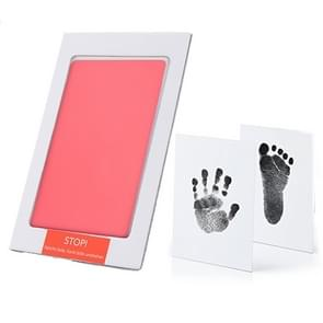 Niet-giftige baby handafdruk footprint Impressum souvenirs baby Clay Toy Gifts (roze)