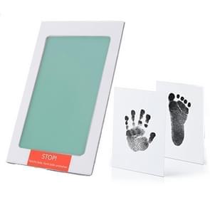 Niet-giftige baby handafdruk footprint Impressum souvenirs baby Clay Toy Gifts (groen)