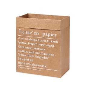 Kraft Paper Bag gift bags voor kunstgedroogde bloemen vaas huis decoraties  grootte:32x16x32cm (Hele gele Frans)