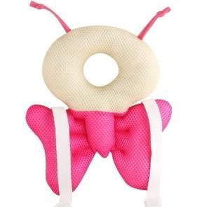 Baby hoofd terug beschermer veiligheid pad kussen peuter harnas hoofddeksels (roze)