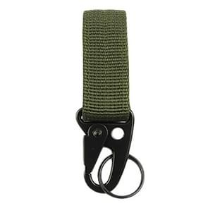 10PCS Outdoor Camping  Carabiner Backpack Hooks Olecranon Molle Hook Survival Gear EDC Nylon Keychain Clasp(Army Green)