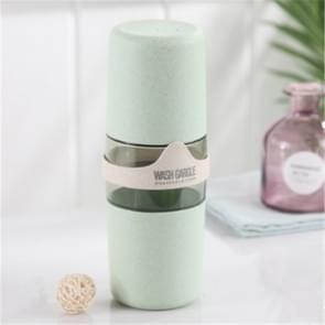 Portable Towel Toothbrush Holder Case Outdoor Travel Camping Toothpaste Multi Cap Storage Case(Green)