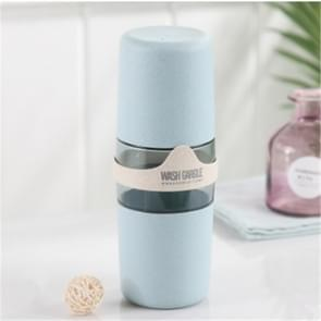 Portable Towel Toothbrush Holder Case Outdoor Travel Camping Toothpaste Multi Cap Storage Case(Blue)