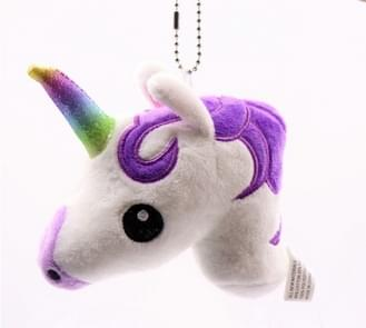 Babies Unicorn Horse Keychain Keyring Bag Charm Pendant Color Lovely Small Pendant(Purple)
