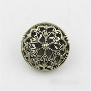 Thee Gold 100 PCS Hollow Flower Shape Metal Button Kleding Accessoires  Diameter:25mm