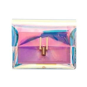 Women Shoulder Bag Fashion Laser Transparent Crossbody Bags Messenger Shoulder Beach Bag(Pink)