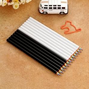 12 stuks Rainbow HB milieu potlood papier Rod pen (6 stuks zwart + 6 stuks wit)
