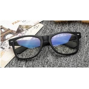 Men Women Anti Blue Ray  Eye Protective Glasses Blue Film Plain Glasses(Frosted Black)