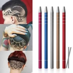 2 PCS Carving Pen Magic Engraving Hair Style Razor Pen Oil Head Nicked Tattoo Pen Scraper