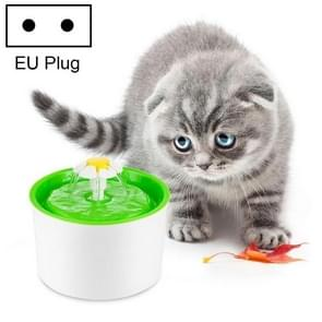 1.6L Automatic Electric Water Fountain Dog Cat Pet Drinker Bowl Drinking Fountain Dispenser, EU Plug(Green)