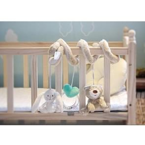 Baby Crib Toys Soft Plush Rabbit Cot Stroller Hanging Rattle Soothe Baby Toy