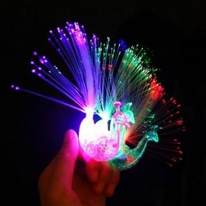 10 PCS Colorful Fluorescent Peacock Finger Lights Party Gadgets Children Entertainment Toys(Blue Green White Red Random Delivery)
