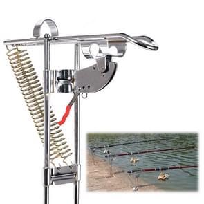 Dubbele veer metalen volautomatische Pole Lifting beugel roestvrijstaal hengel stok Pole lifter