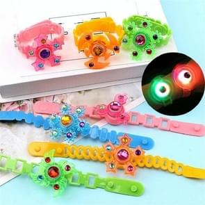 3 PC'S kinderen lichtgevende armband Flash creatieve roterende Gyro horloge band (kleur en stijl willekeurige levering)