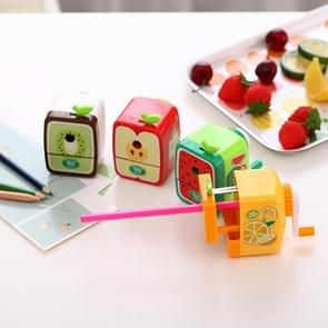 Cartoon Fruit Hand Pencil Sharpener Fun Student Cute Sharpener, Random Color Delivery