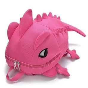 3D Animal Backpack Dinosaur Shape Cartoon School Bags Teenager Schoolbag(Pink)