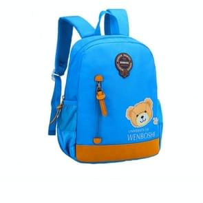 Cartoon cute kinderen Oxford doek schooltas rugzak kleuterschool Kids Bag (Sky Blue)