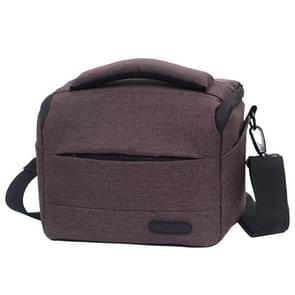 Waterproof DSLR Camera Bag for Nikon Canon SONY Panasonic etc Camera, Size:Small(Coffee)