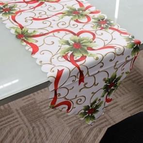 2 stuks 36x180cm Kerstmis tafelkleed Home Party decoratie Santa Claus Tapestry rood  kleur: rood fruit