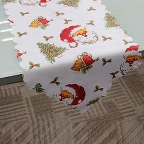 2 stuks 36x180cm Kerstmis tafelkleed Home Party decoratie Santa Claus Tapestry rood  kleur: Santa Claus hoofd