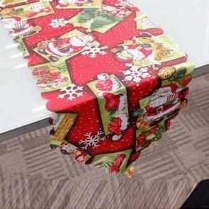 2 stuks 36x180cm Kerstmis tafelkleed Home Party decoratie Santa Claus Tapestry rood  kleur: Santa Claus Heat