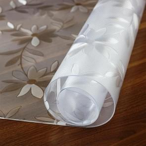 Waterproof Oilproof  PVC Placemat Soft Glass Tablecloth Tea Table Mat, Specification:60x160cm(Cosmos 1.5mm)