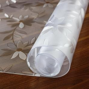 Waterproof Oilproof  PVC Placemat Soft Glass Tablecloth Tea Table Mat, Specification:70x70cm(Cosmos 1.5mm)