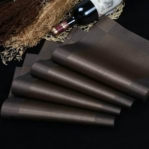 10 PCS Placemat Fashion PVC Dining Table Mat Fisc Pads Bowl Pad Coasters Waterproof Table Cloth Pad Slip-resistant Pad(Brown)